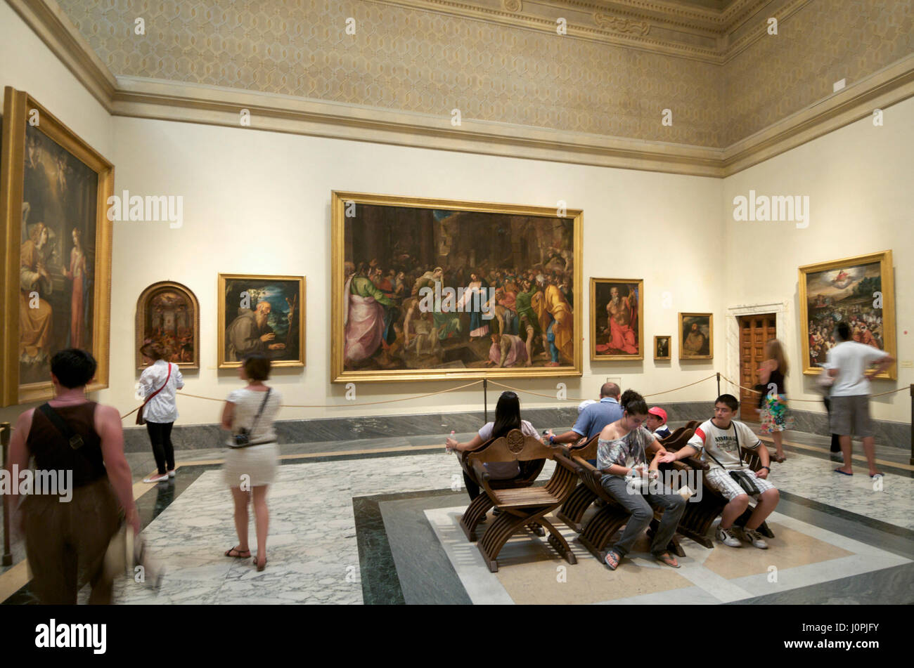 Tourists, Vatican Museum, Rome, Italy, Europe - Stock Image