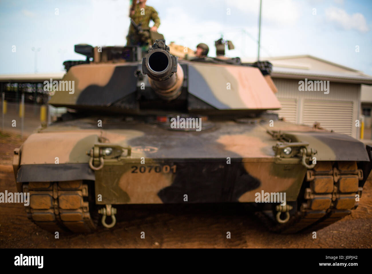 An Australian Abrams main battle tank of 1st Armoured Divison, Australia - Stock Image