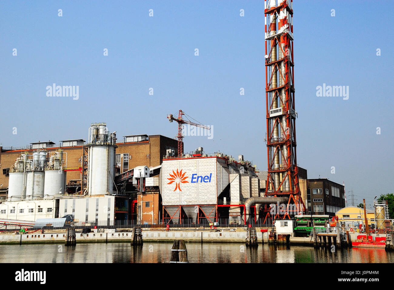 The first industrial-size power plant fueled by hydrogen in the world is brought into operation Monday, July 12 Stock Photo