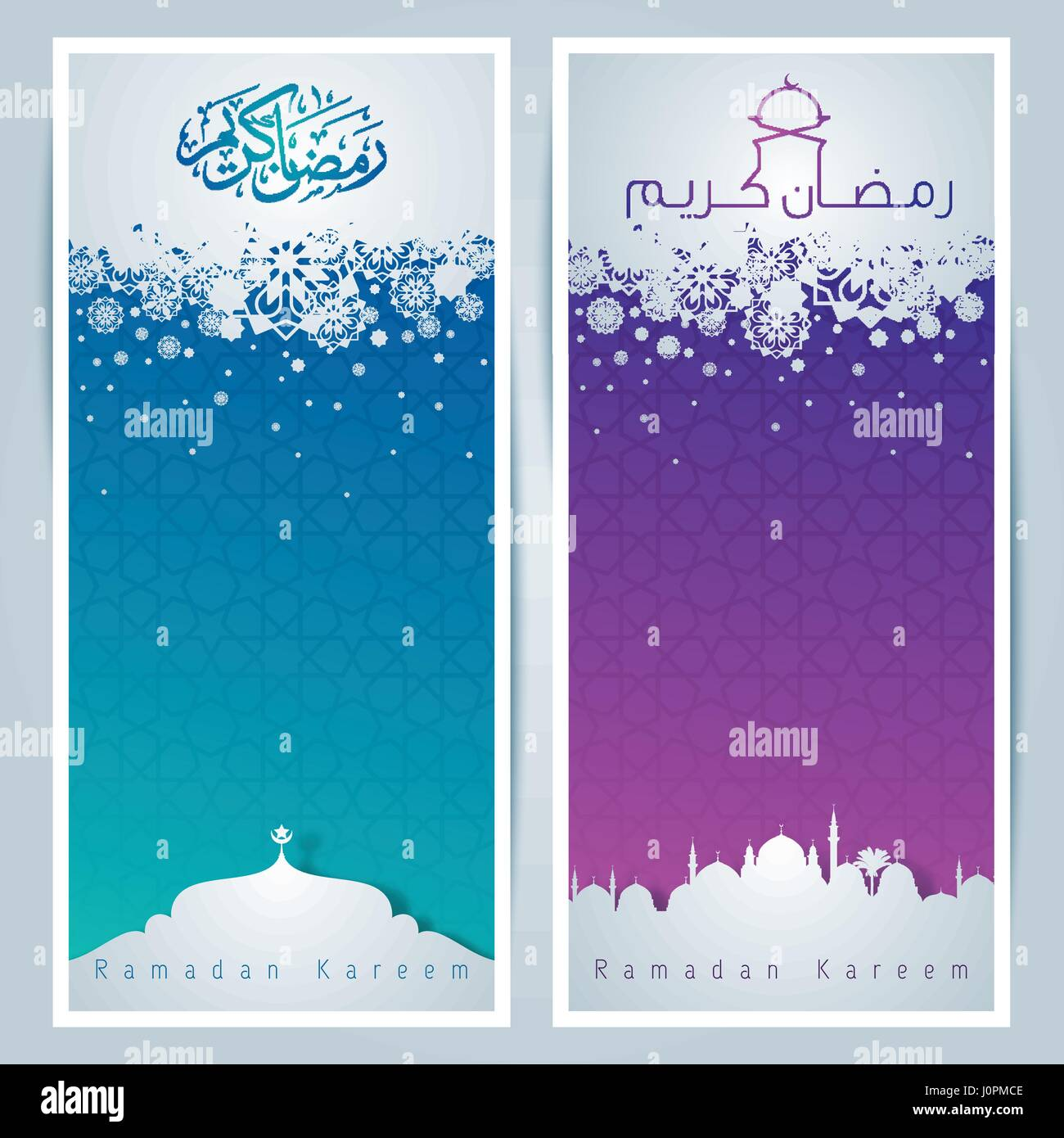 Islamic greeting card background arabic pattern and mosque stock islamic greeting card background arabic pattern and mosque silhouette for ramadan kareem m4hsunfo