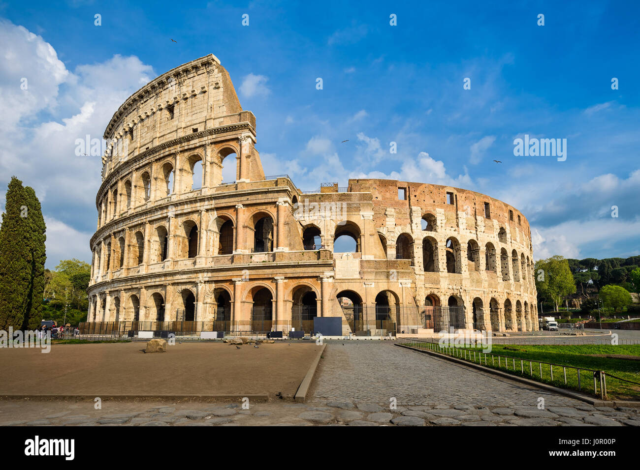 Colosseum in Rome, Italy on a sunny day - Stock Image