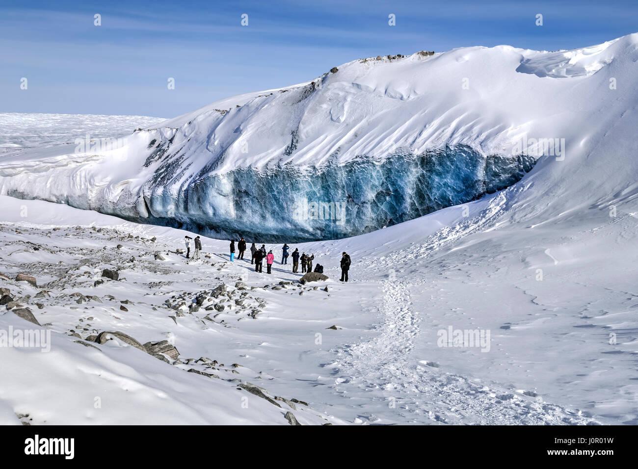 Ice Cap, Point 660, Kangerlussuaq, Artic Circle, Greenland, Europe - Stock Image