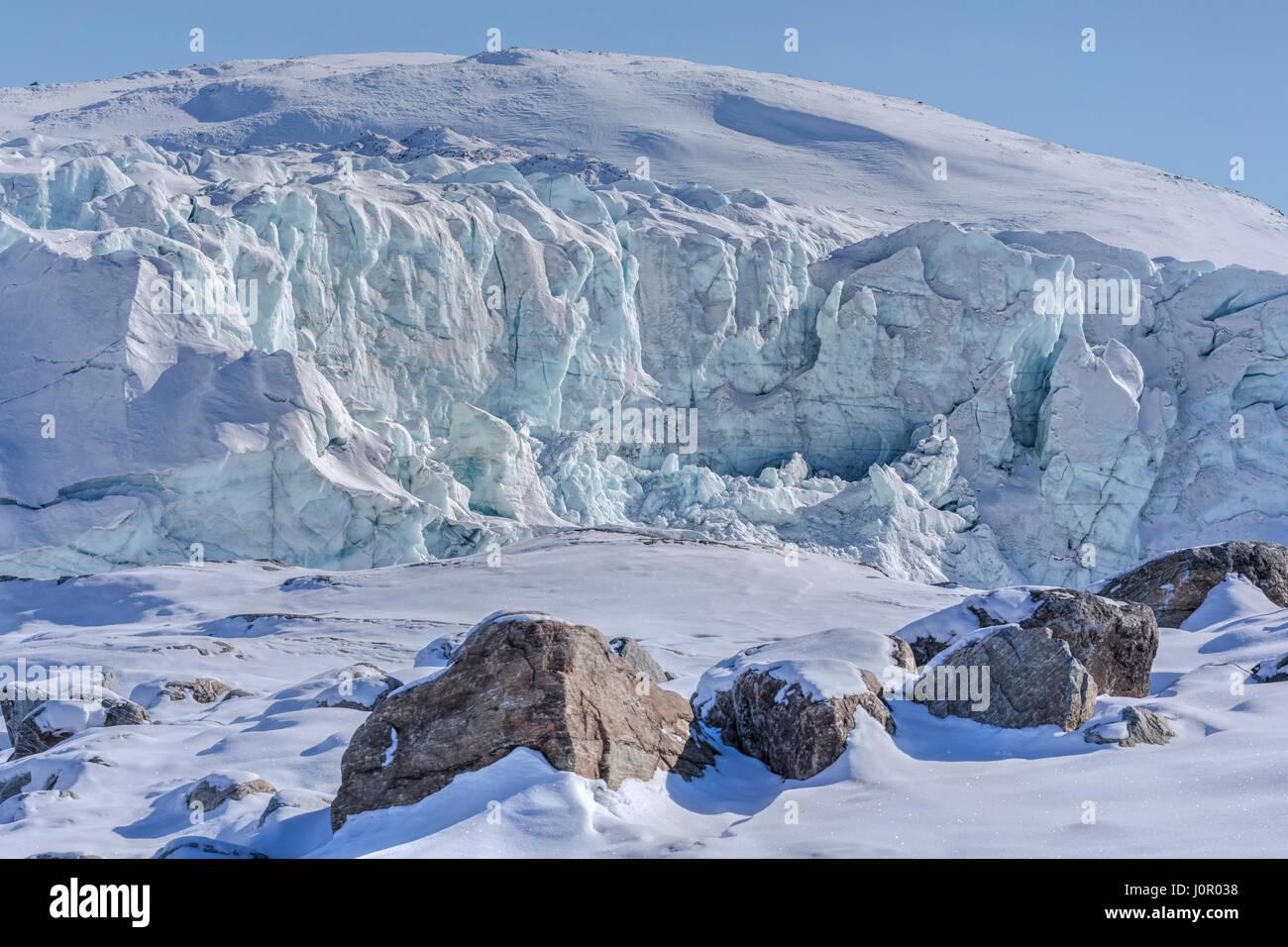Russell Glacier, Kangerlussuaq, Artic Circle, Greenland, Europe - Stock Image