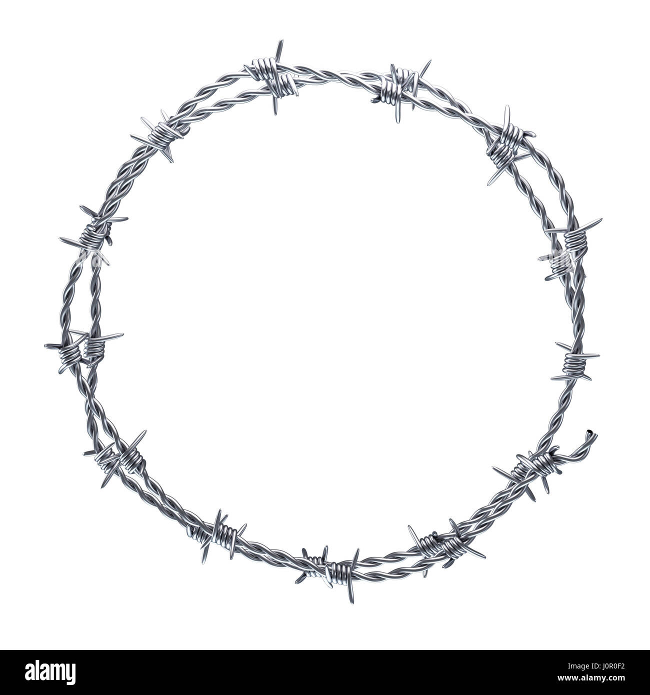 Barb Wire Cut Out Stock Images & Pictures - Alamy