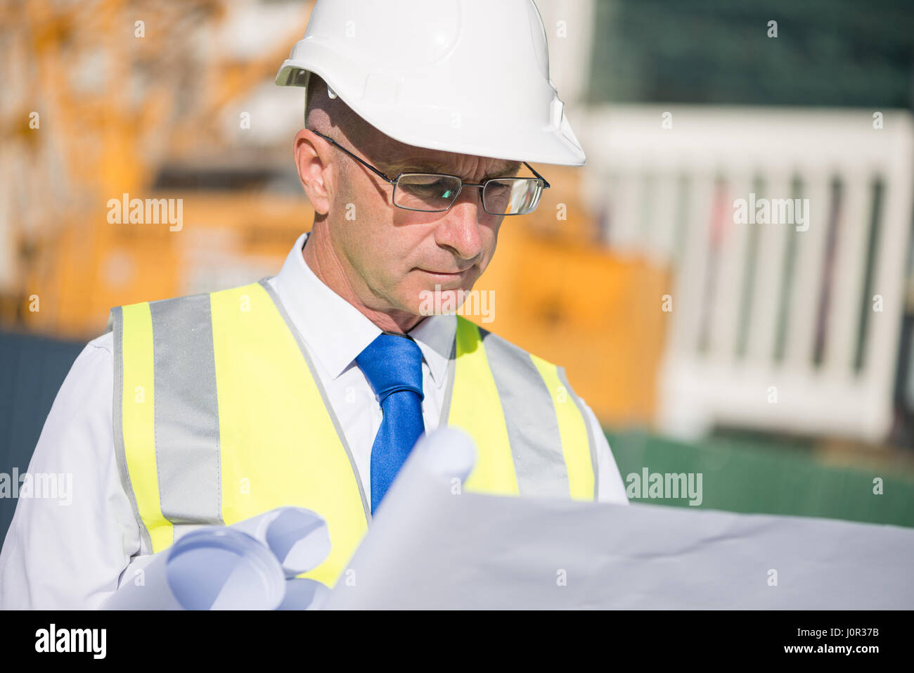 Senior engineer - Stock Image