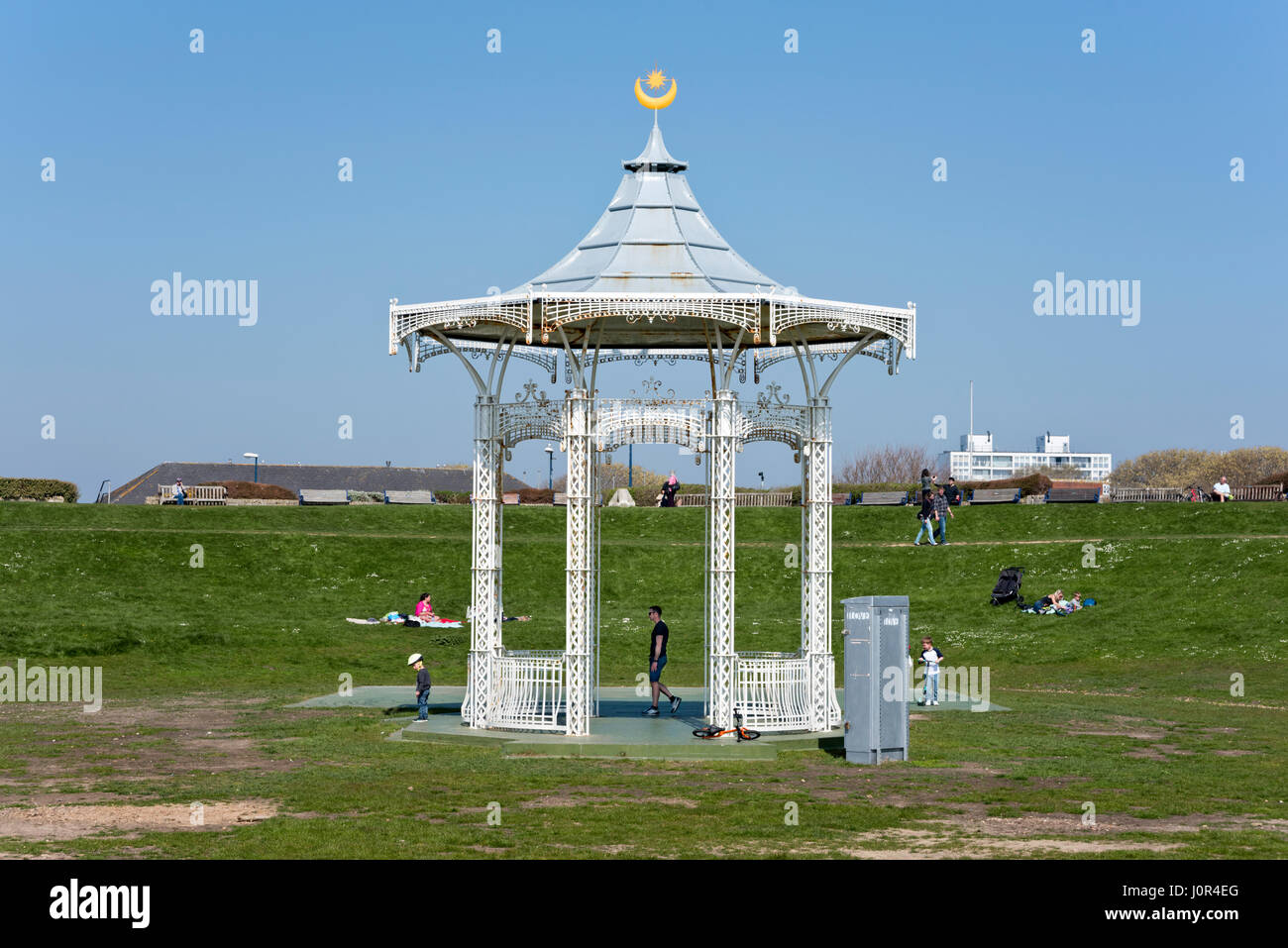Bandstand on Southsea Common, Hampshire, UK - Stock Image