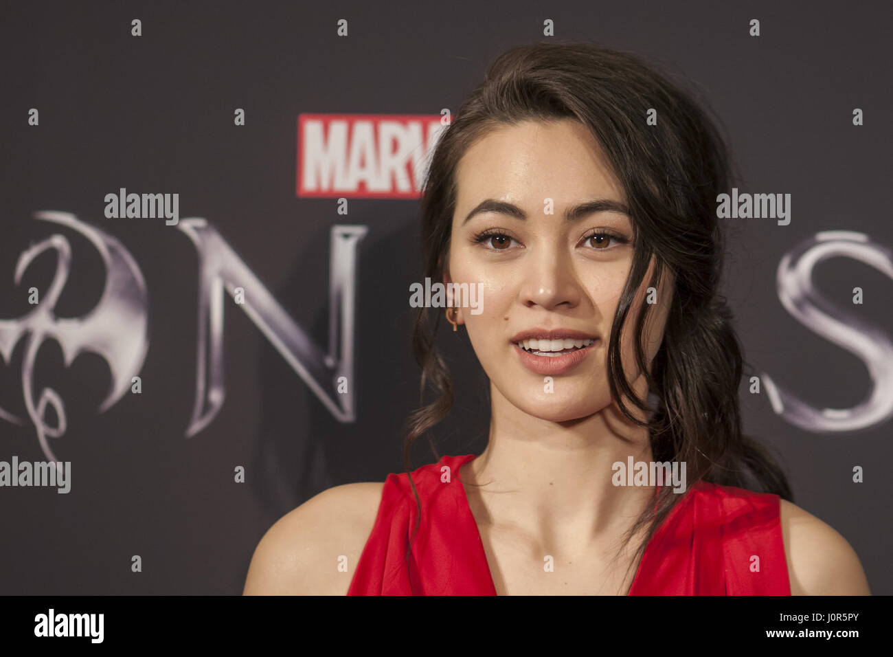 Marvel's 'Iron Fist' New York Screening at AMC Empire 25 Times Square - Red Carpet Arrivals  Featuring: Jessica Stock Photo