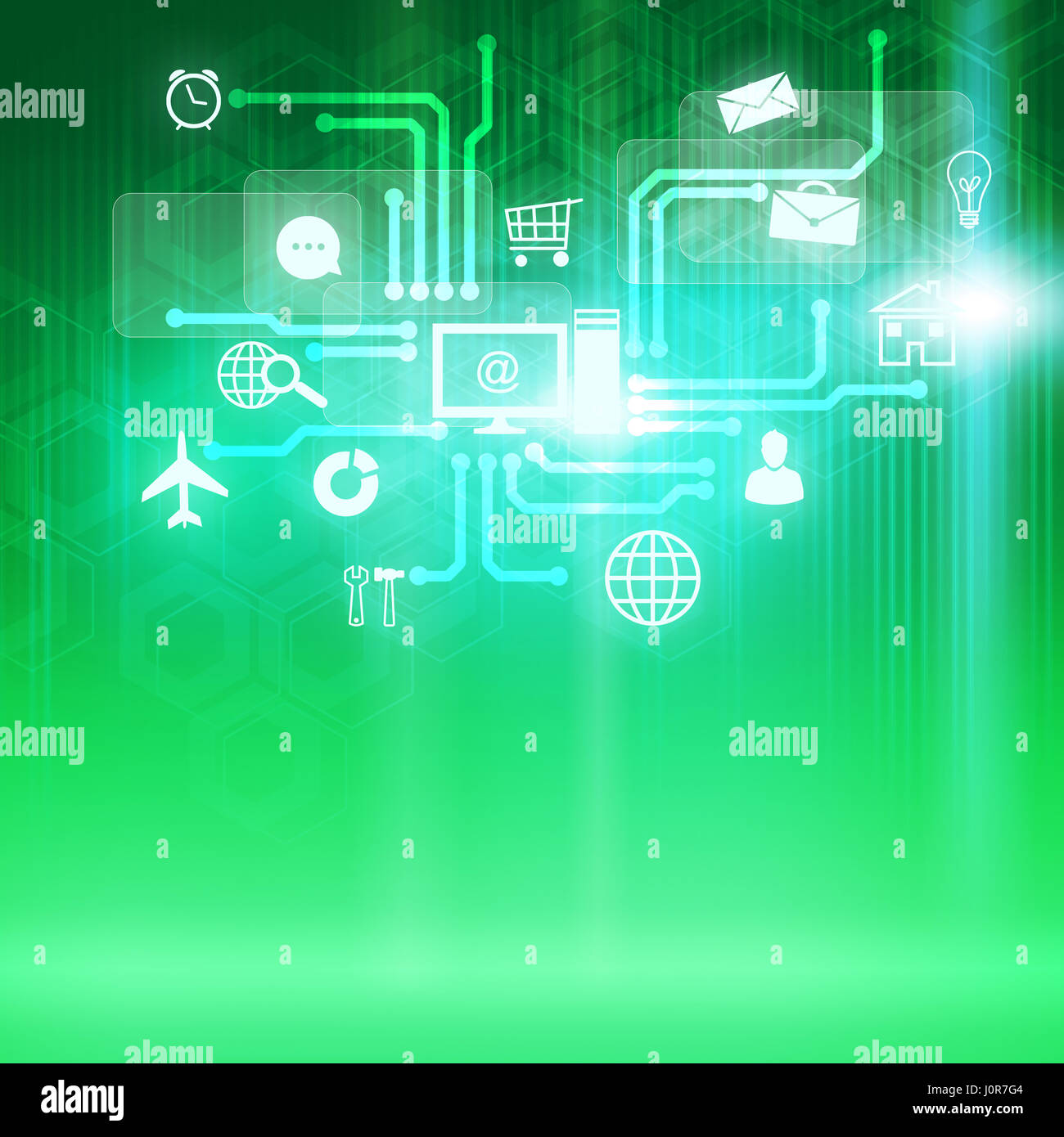 Global technologies - Stock Image