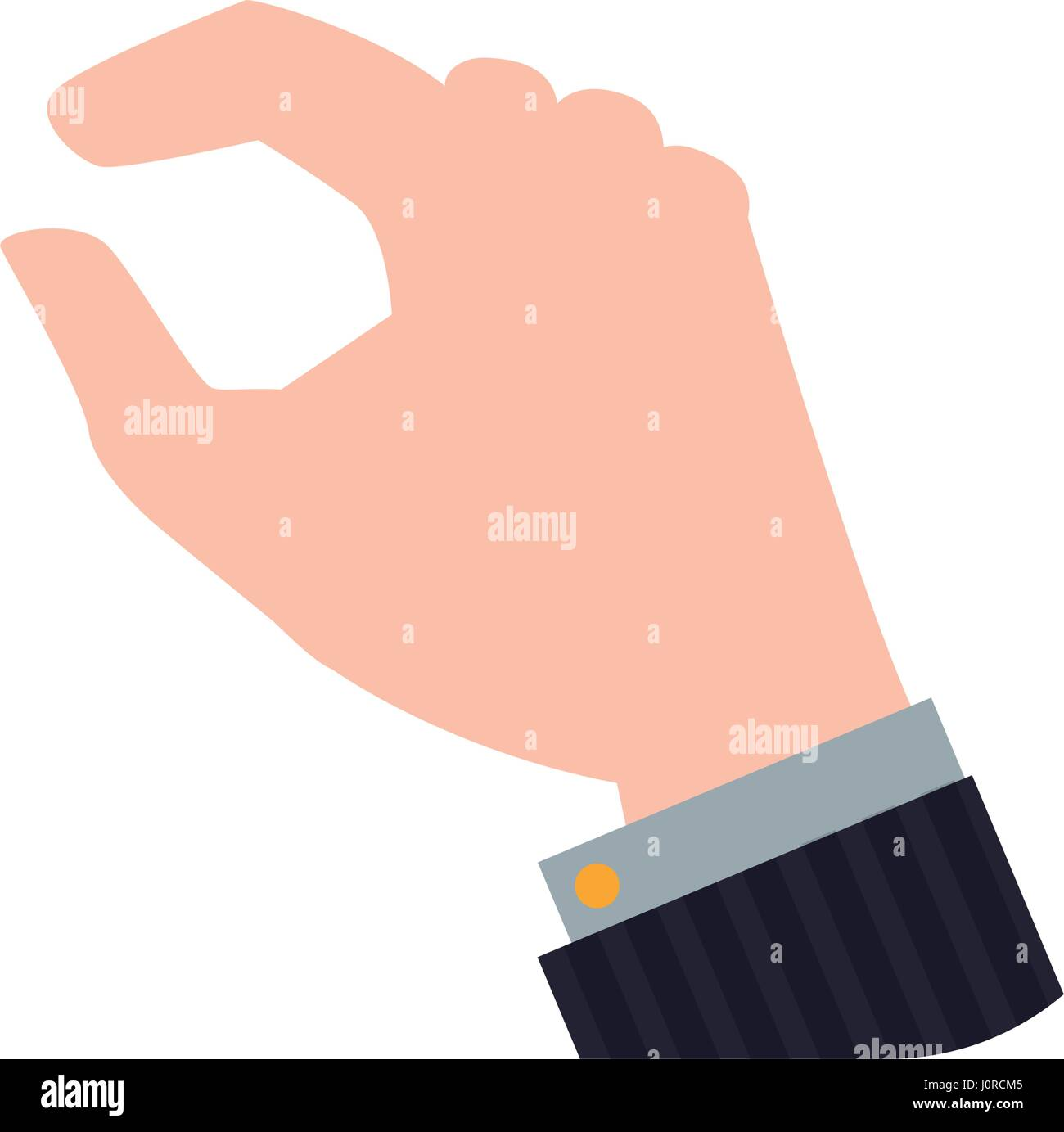 Hand touching something - Stock Image