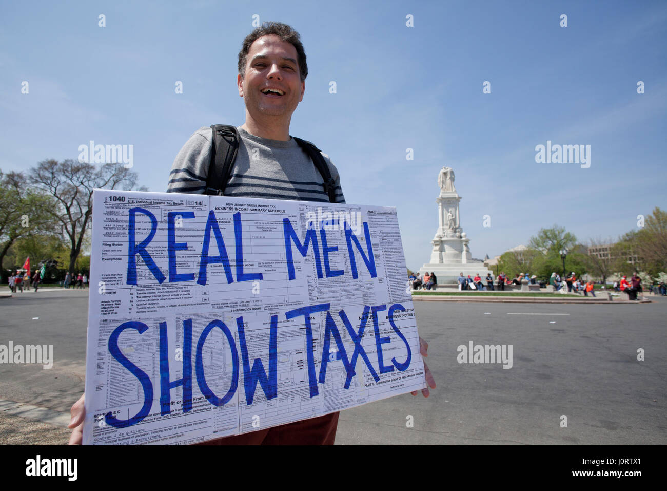 Washington, DC USA, Saturday, 15th April, 2017:  Thousands of protesters gather on Capitol Hill to demand president Stock Photo