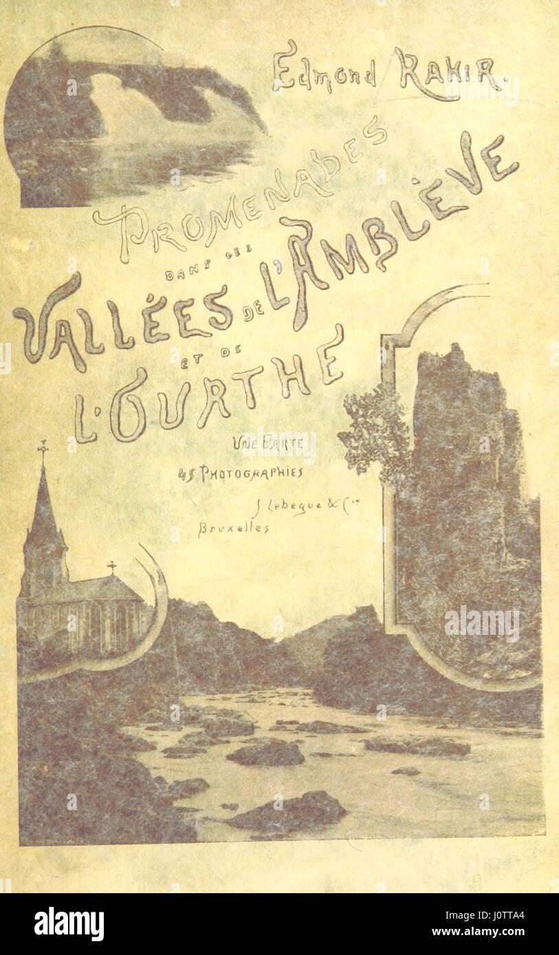 Promenades dans les vallées de l'Amblève et de l'Ourthe. Avec ... photographies - Stock Image