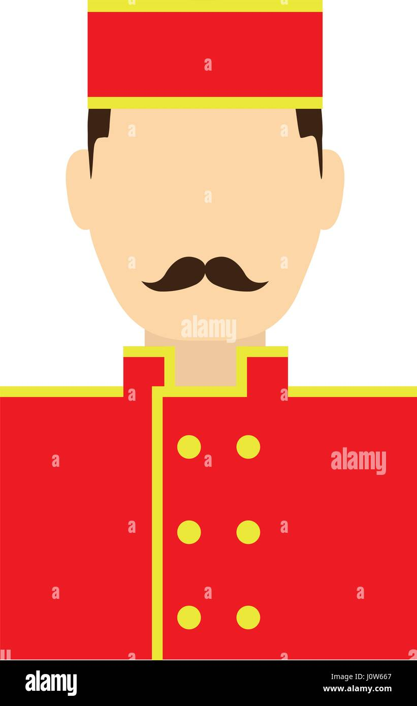 bellboy man icon - Stock Image