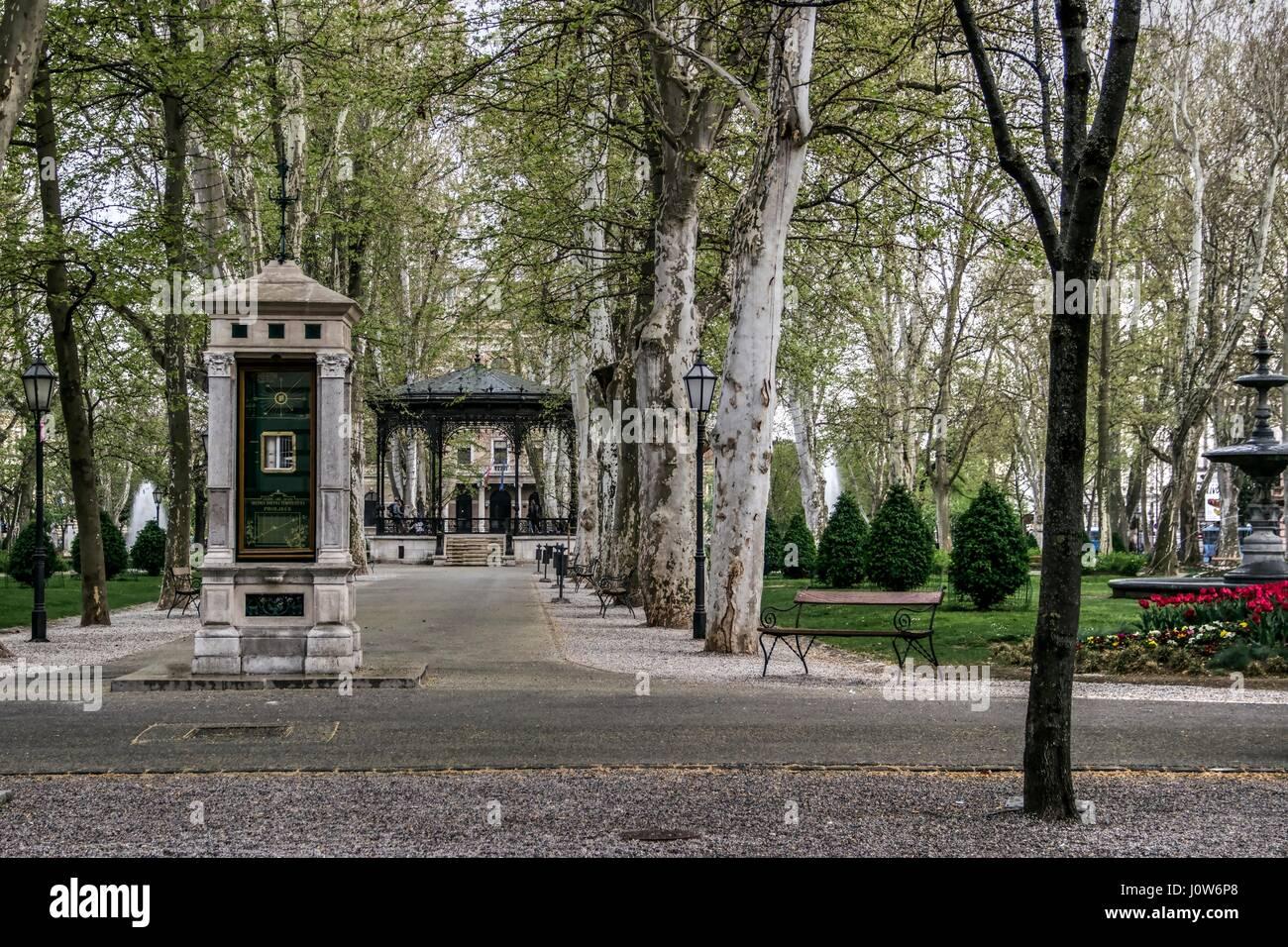 Zagreb Croatia Music Pavilion In The Park Zrinjevac Stock Photo Alamy