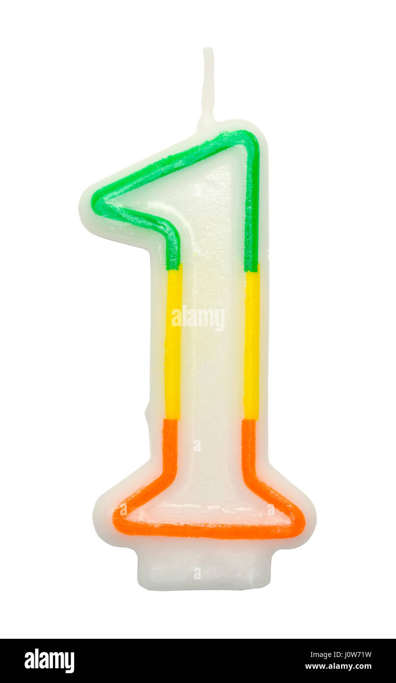 Number One First Birthday Candle Cut Out