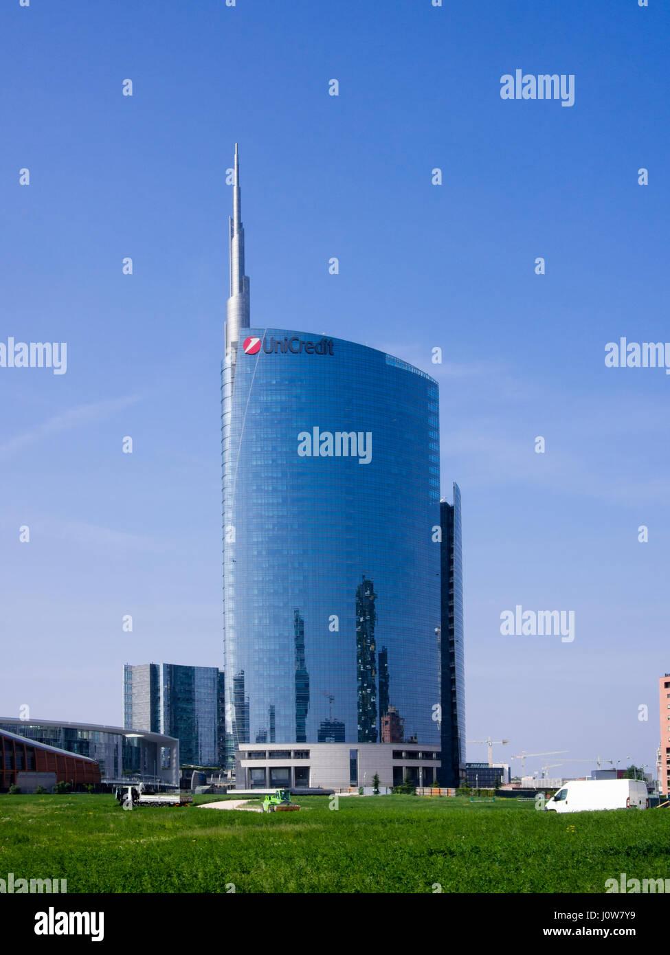 Milan street scenes during April 2017 Stock Photo