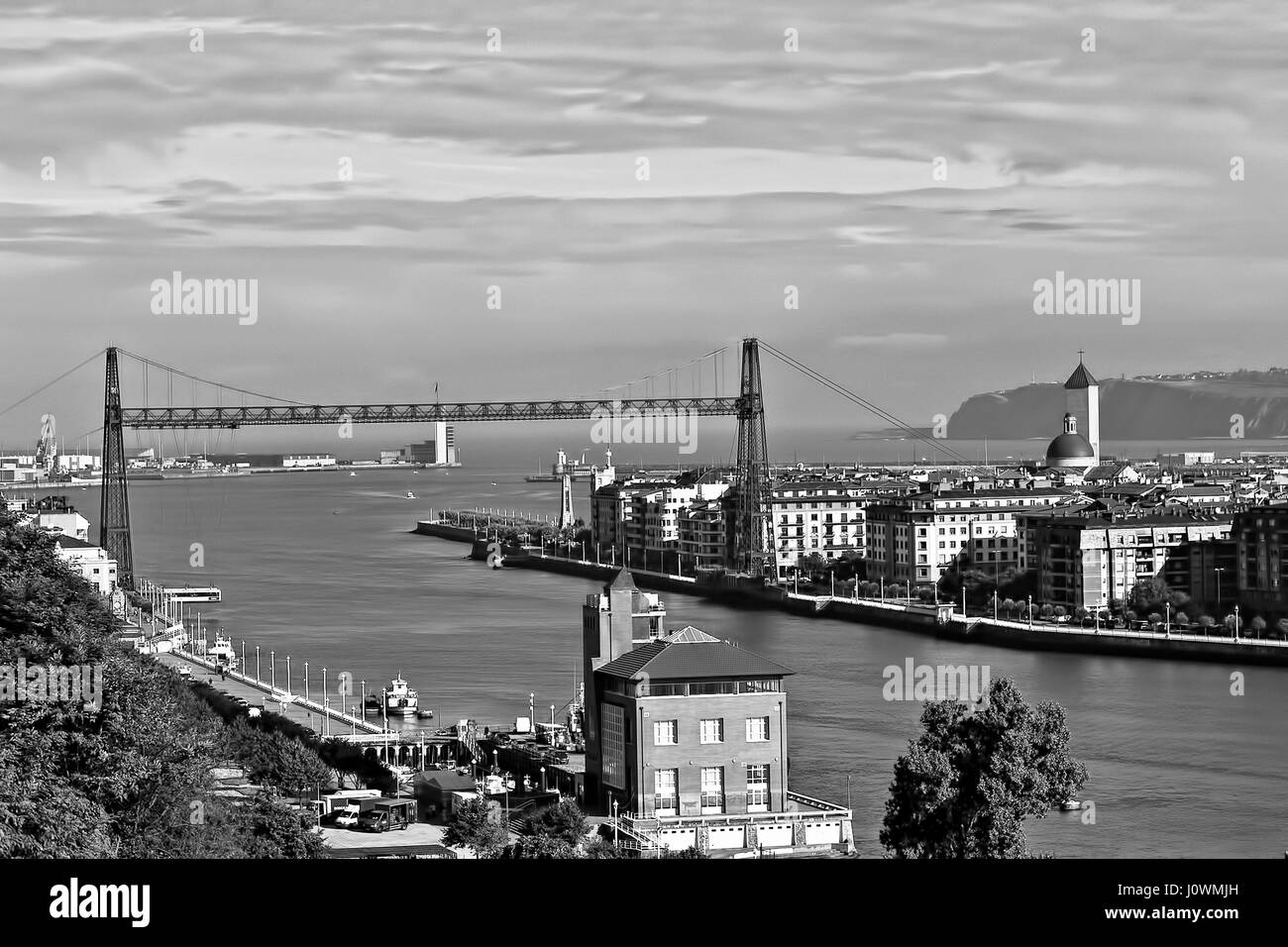 Historic Vizcaya Bridge, Portugalete, Spain - Stock Image