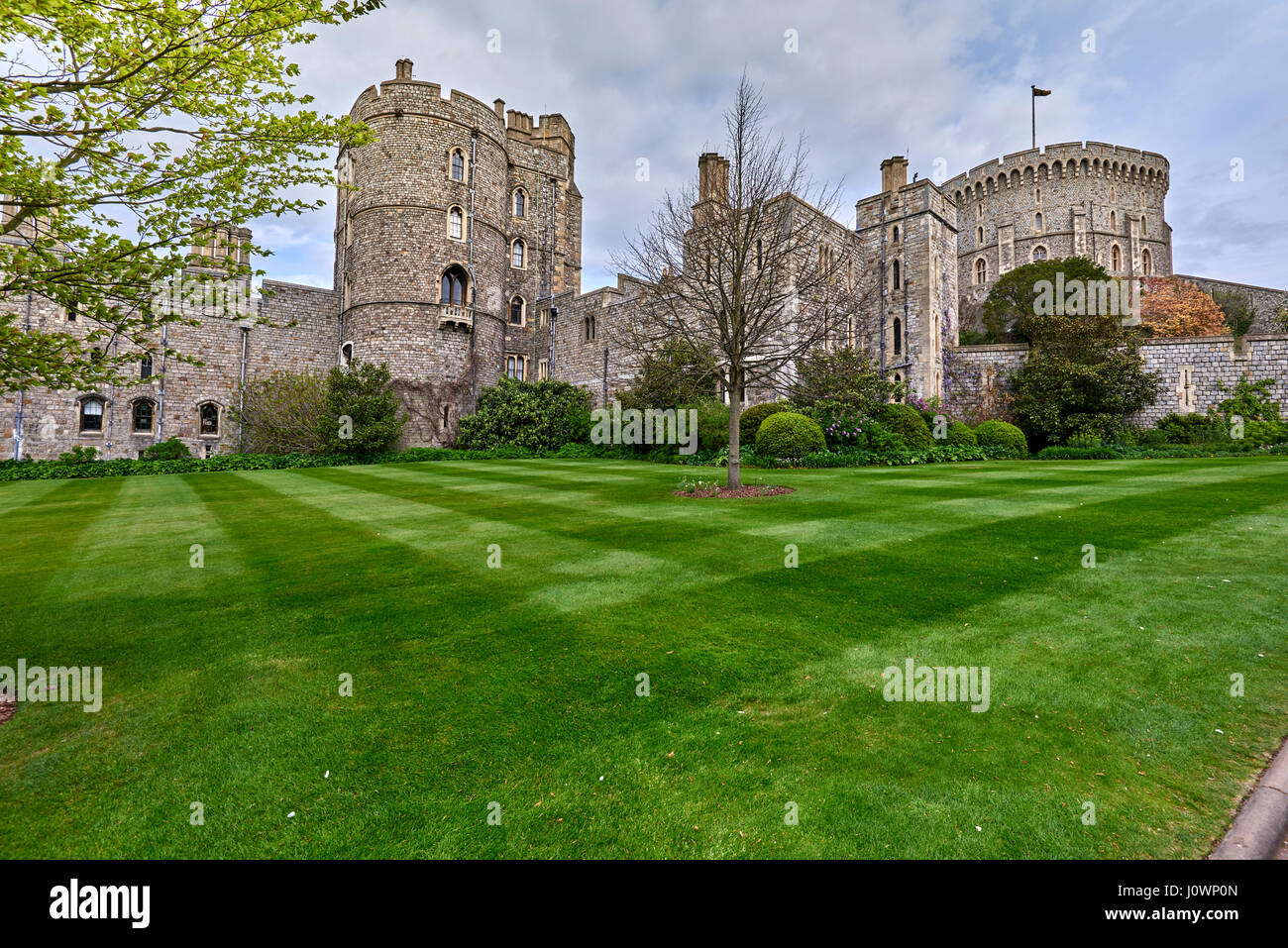 Windsor Castle is a royal residence at Windsor in the English county of Berkshire - Stock Image