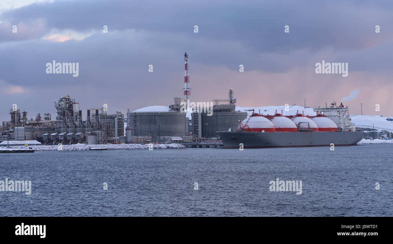 The Arctic Discoverer, a liquefied natural gas, LNG, Tanker at the