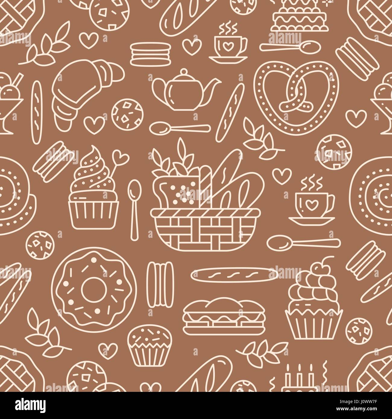 Cup Cake Color Pattern