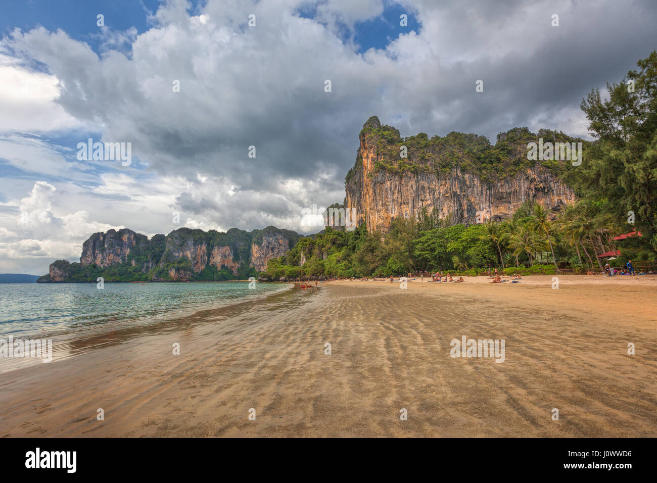 Railay Beach, Ao Nang, Krabi province, Thailand, Southeast Asia - Stock Image