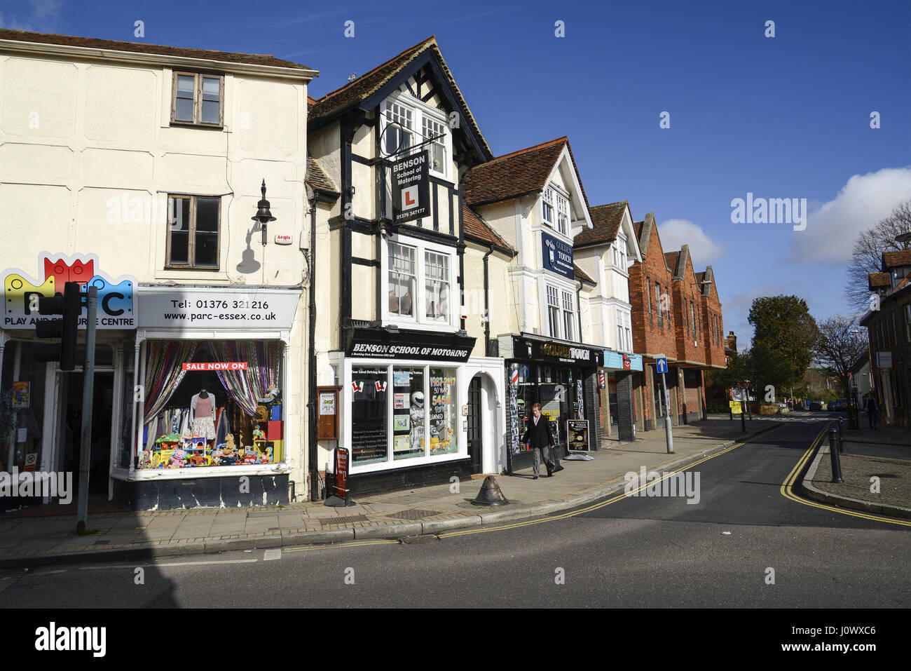 Junction of Bocking End and Bank Street, Braintree, Essex - Stock Image