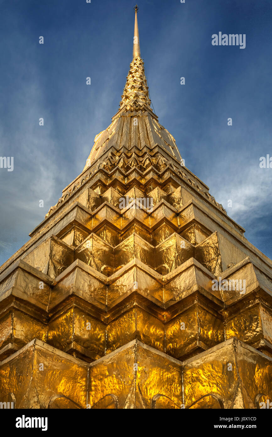 Architectural feature, Temple, Bangkok, Thailand - Stock Image