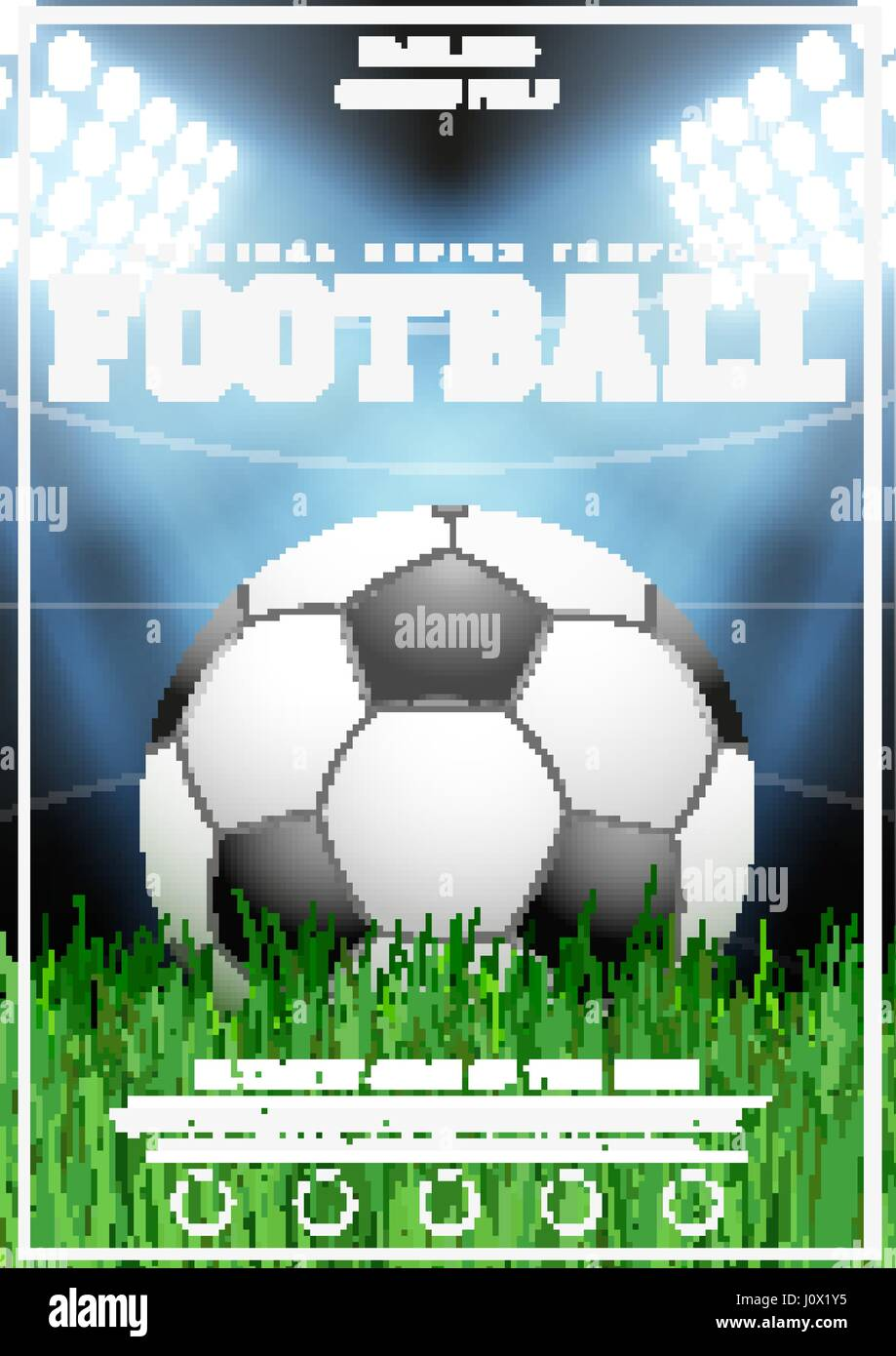 Football Soccer Invitation Poster Flyer Stock Vector Images Alamy