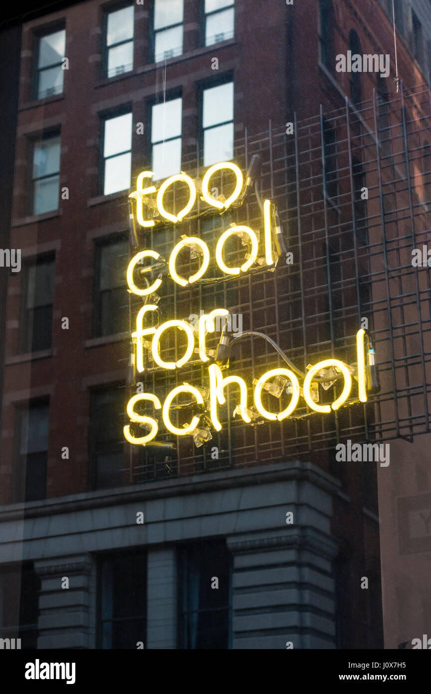 Too Cool for School, a Korean skincare store in SoHo, New York City - Stock Image