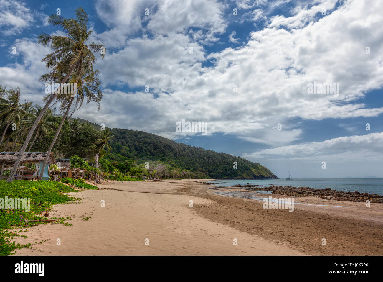 Bamboo Bay Beach in Koh Lanta Yai, Krabi Province, Thailand, Southeast Asia - Stock Image