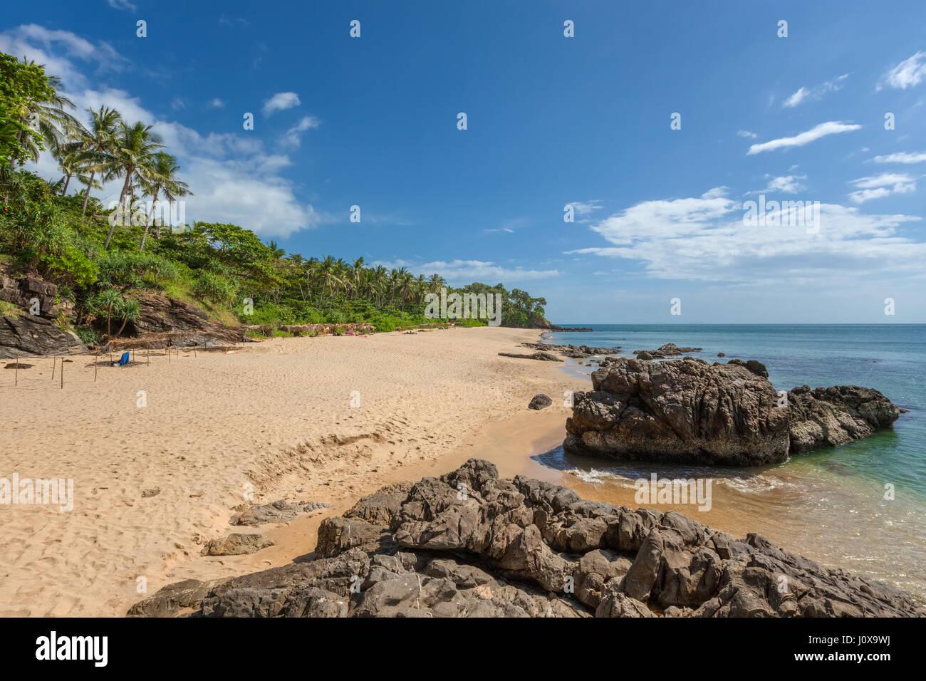 Diamond Cliff beach on Koh Lanta Yai, Krabi Province, Thailand, Southeast Asia - Stock Image