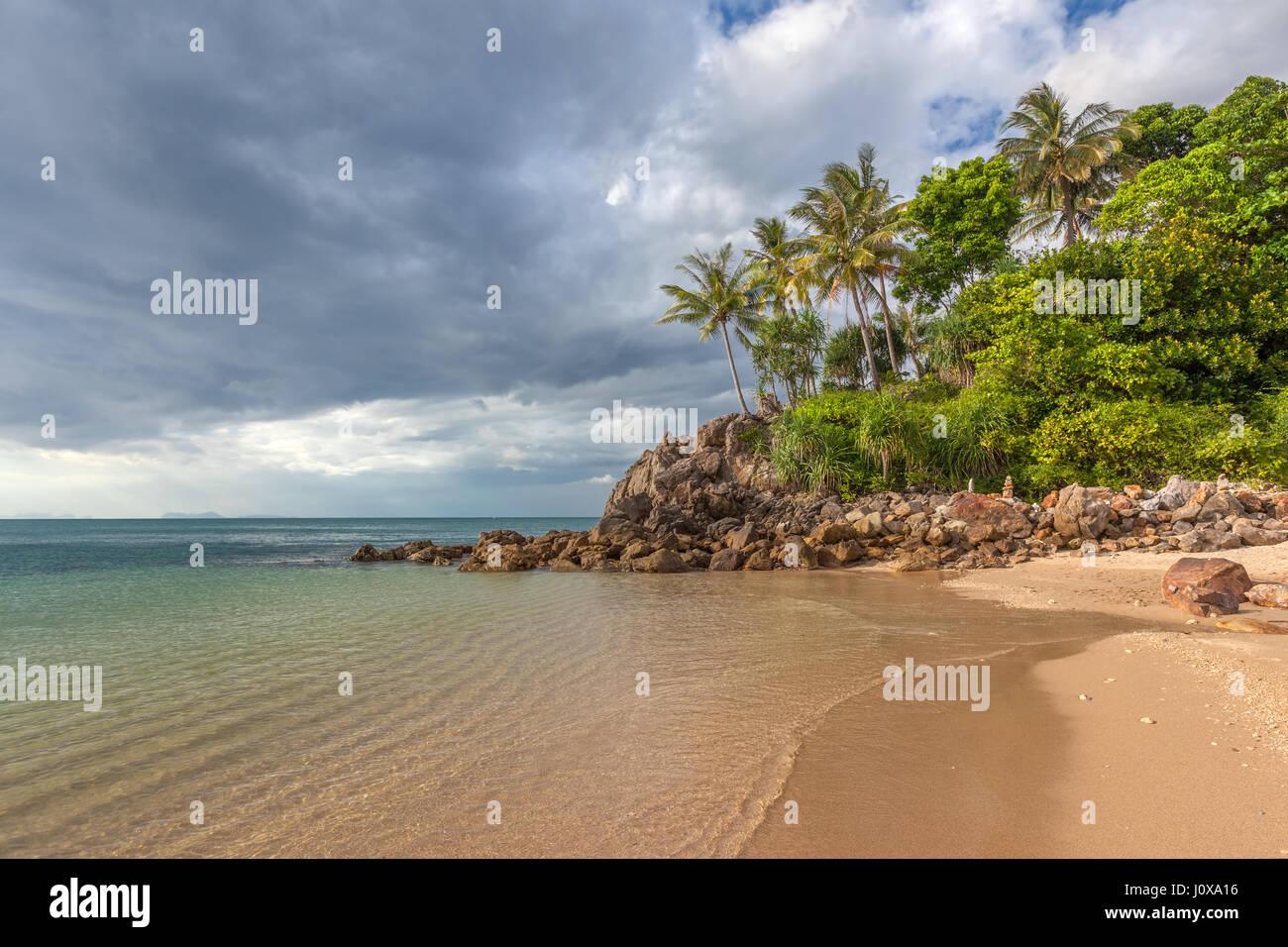 Long Beach in Koh Lanta Yai, Krabi Province, Thailand, Southeast Asia - Stock Image