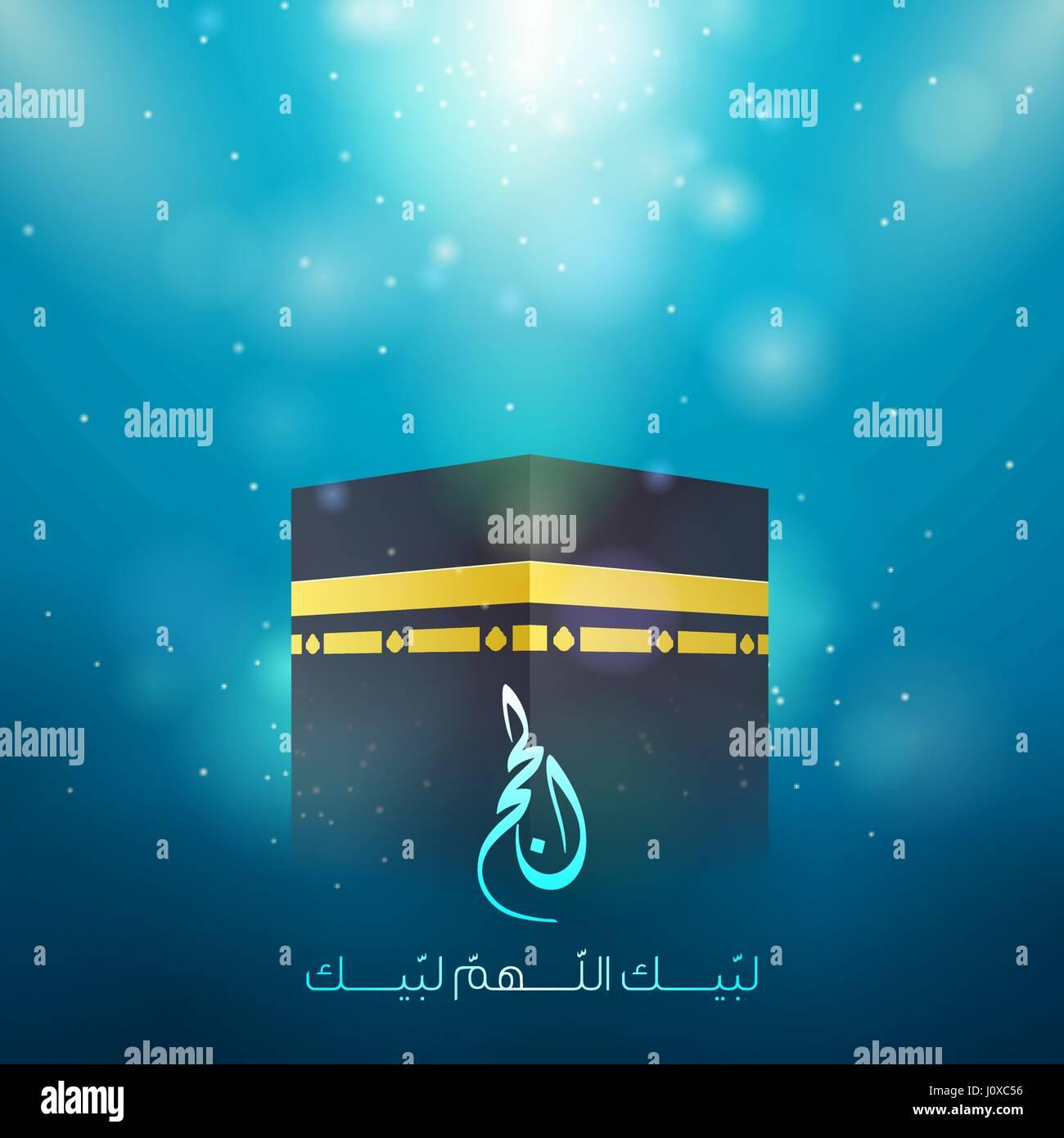 Hajj kaaba islamic eid greeting stock vector art illustration hajj kaaba islamic eid greeting m4hsunfo
