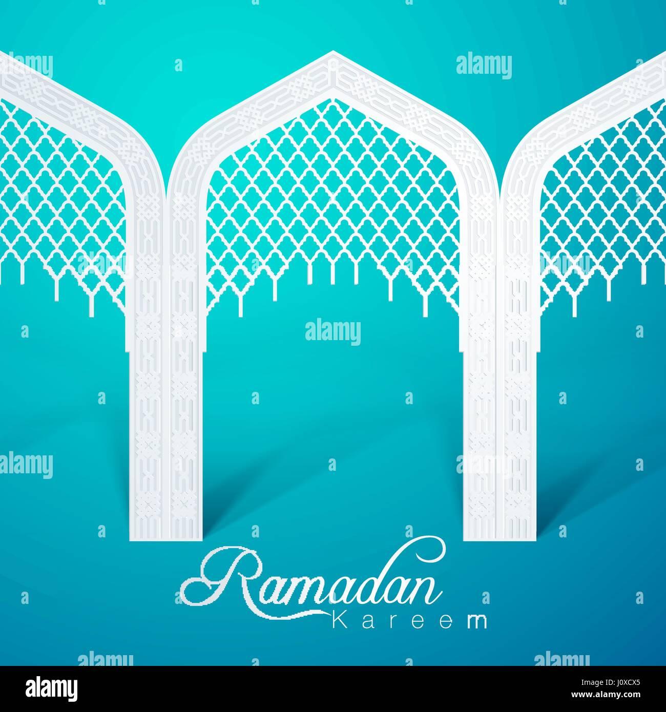 Ramadan Kareem Door Mosque White Green  sc 1 st  Alamy & Ramadan Kareem Door Mosque White Green Stock Vector Art ...