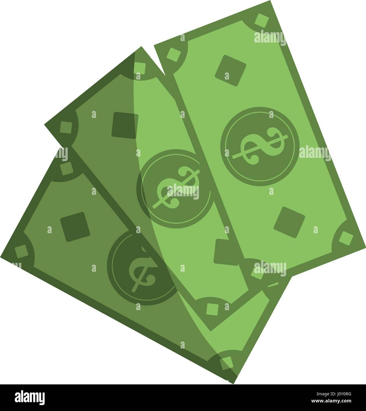 money bills icon - Stock Image