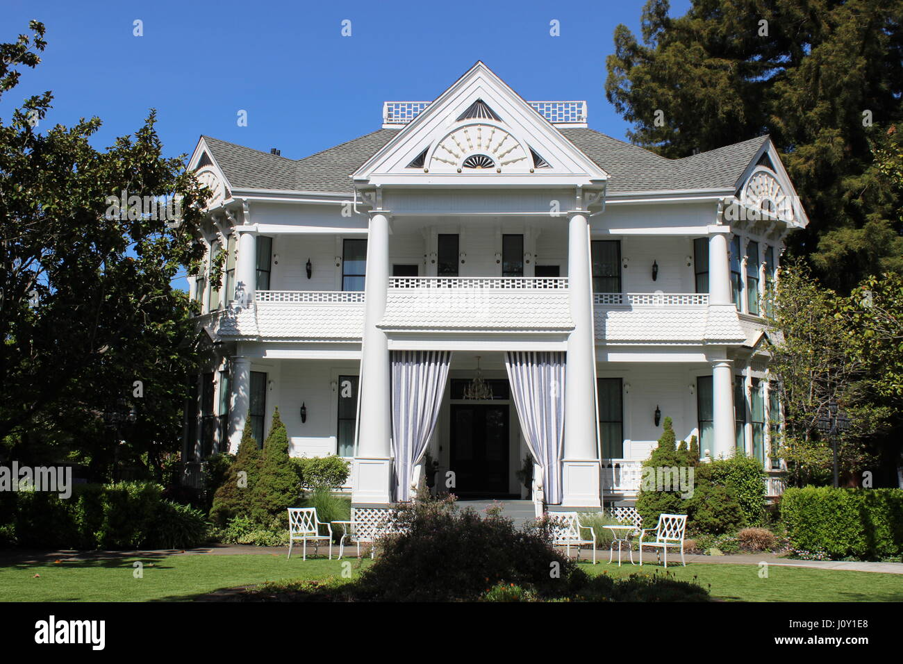 Manasse Mansion, Eastlake or Stick-style house built in 1886 in Napa California - Stock Image