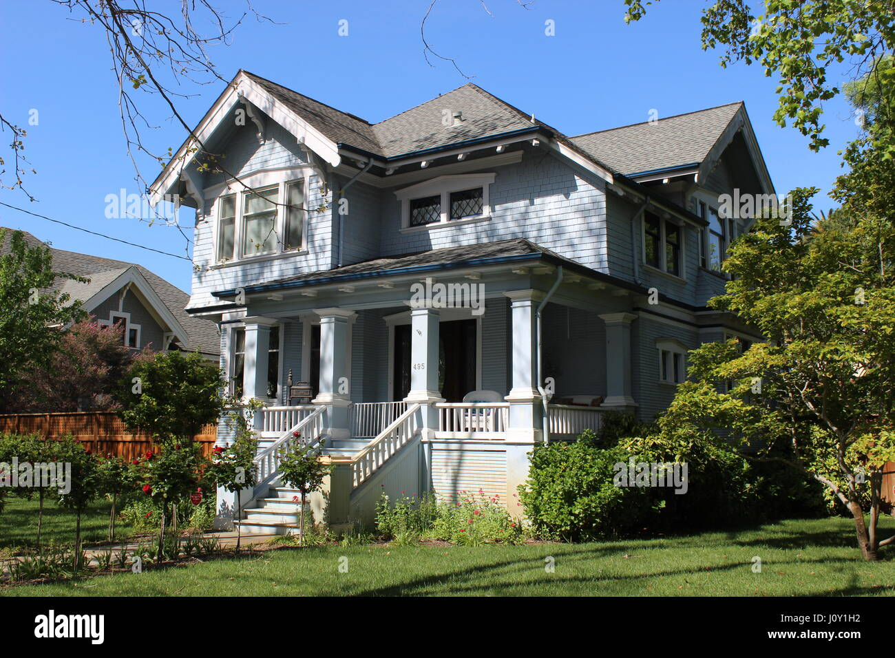 Edward G. Manasse House, Craftsman House built around 1905 in Napa, California - Stock Image