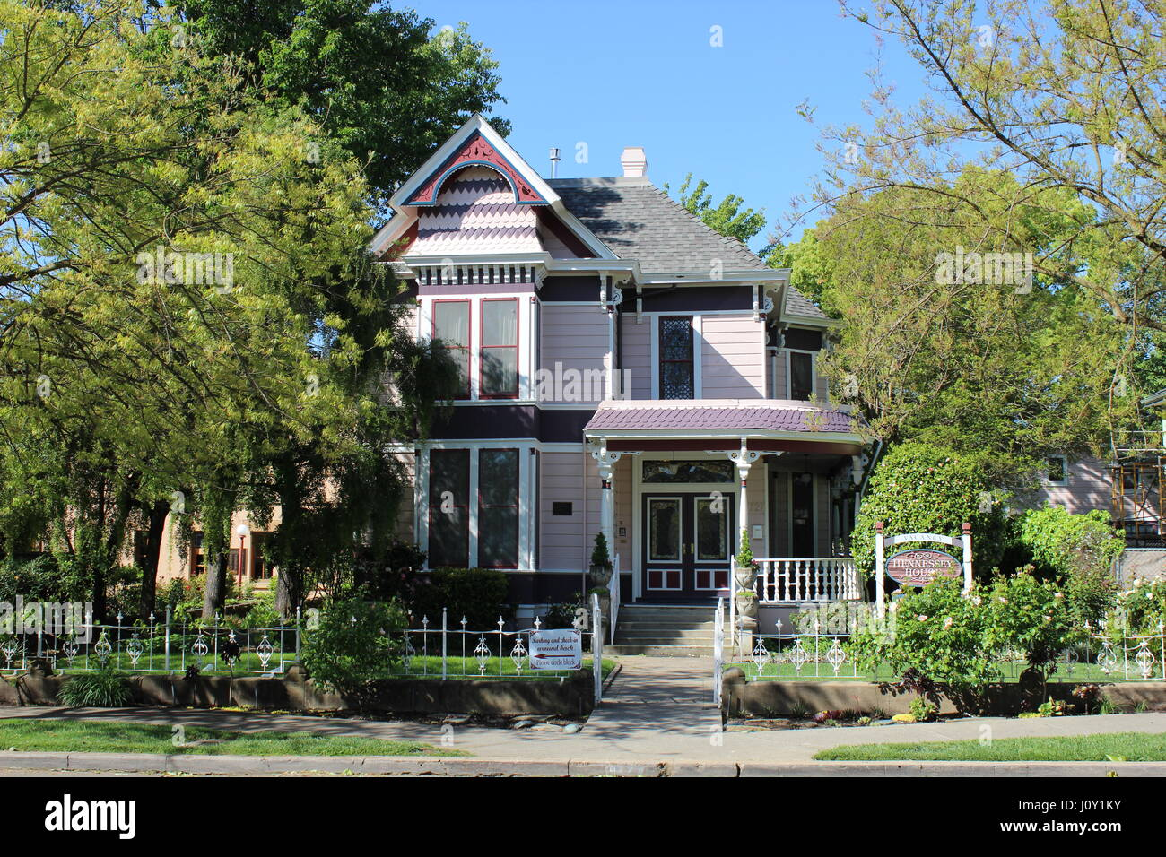 Hennessey House, Eastlake or Stick-style 1889 house in Napa, California - Stock Image