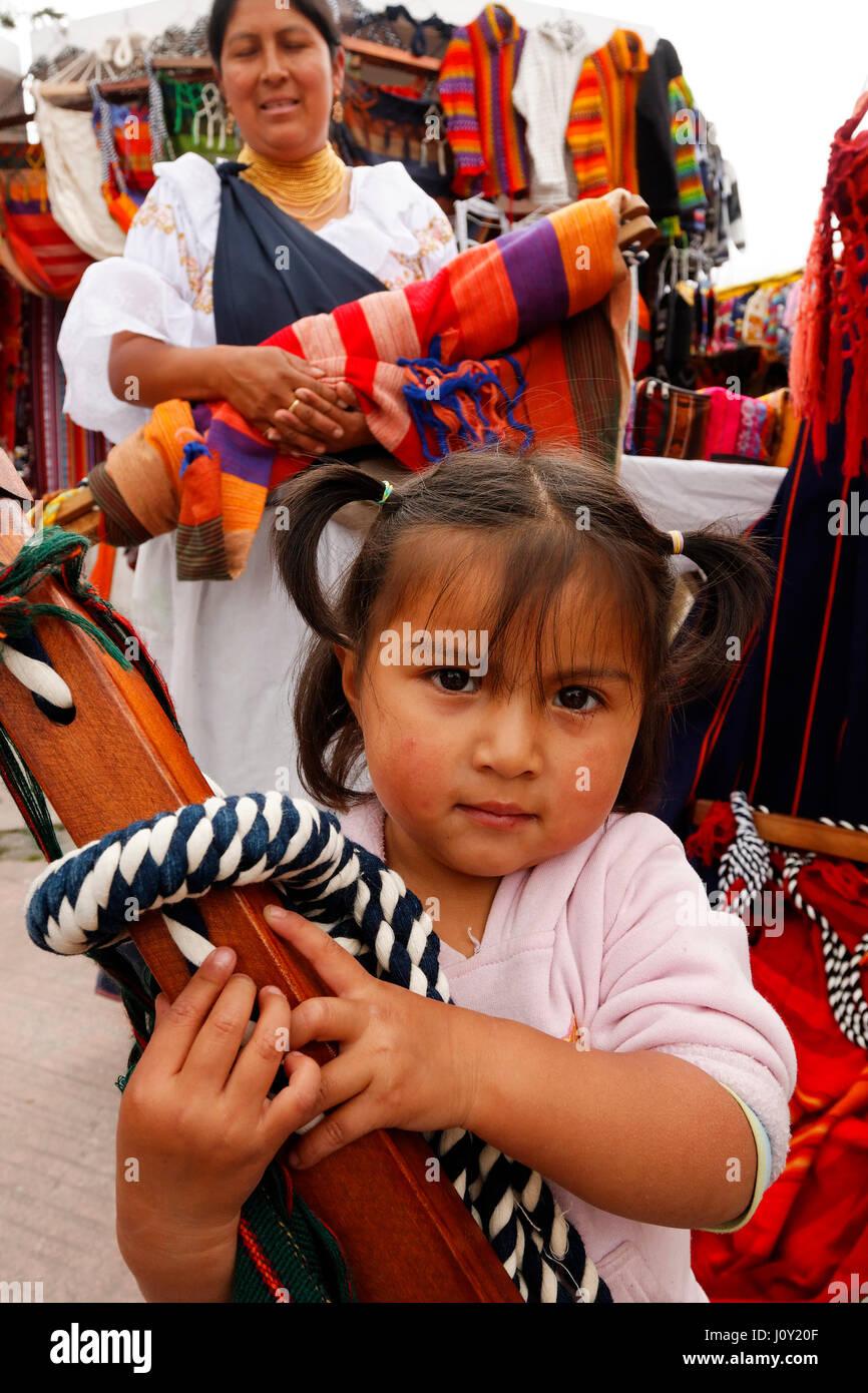 Market in Otavalo, Ecuador - Stock Image