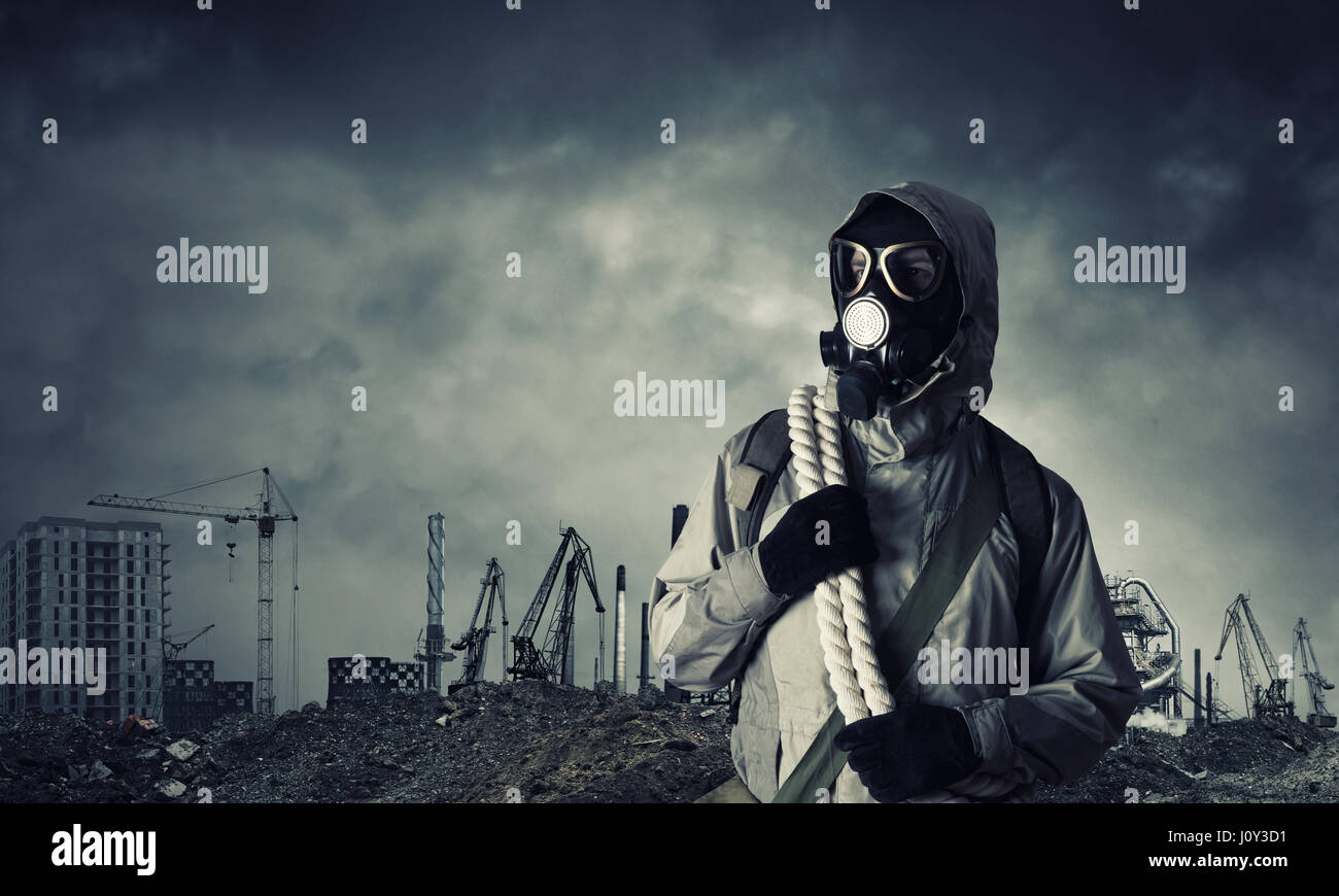 Post apocalyptic future - Stock Image