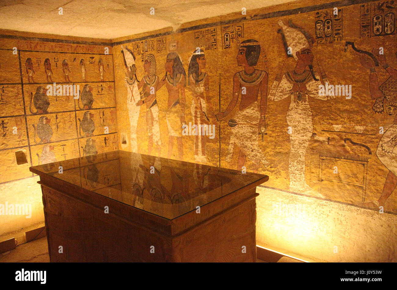 Replica tomb of Pharaoh Tutankhamun which has been built on the west bank at Luxor - Stock Image