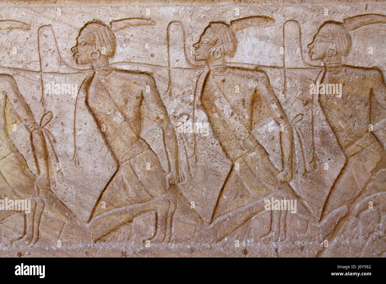 Depiction of slaves at Abu Simbel Stock Photo