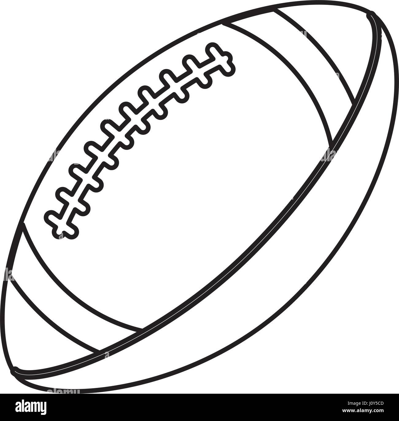 ball american football sport equipment outline - Football Outline