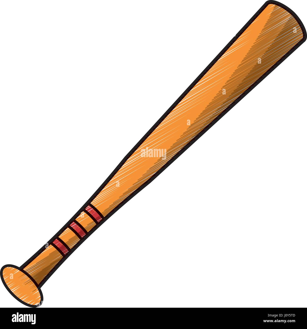 drawing bat baseball equipment stock vector art illustration rh alamy com Baseball Bat and Ball Baseball Bat Clip Art