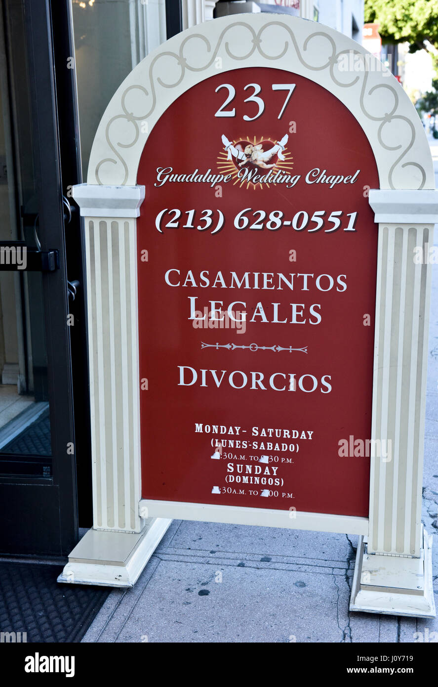 Guadalupe wedding chapel in downtown los angeles california stock guadalupe wedding chapel in downtown los angeles california junglespirit Image collections