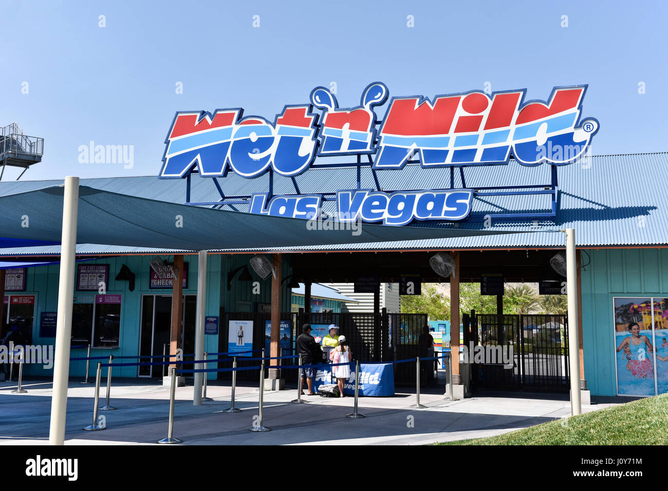 LAS VEGAS, NV - APRIL 8: The Josh Stevens Foundation's 'Be Kind' pledge day at Wet'n'Wild in Las Vegas, - Stock Image