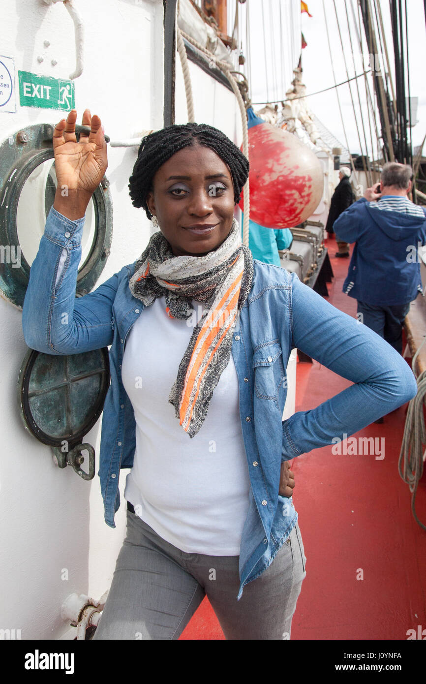 Ghanian African tourist in Woolwhich London - Stock Image