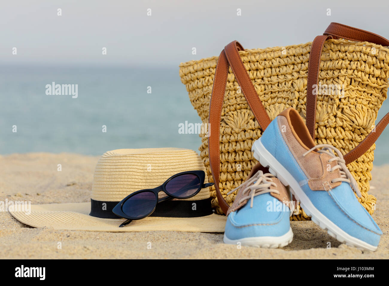 655f997dc0d6 Relax Shoes Jeans Sand Stock Photos   Relax Shoes Jeans Sand Stock ...