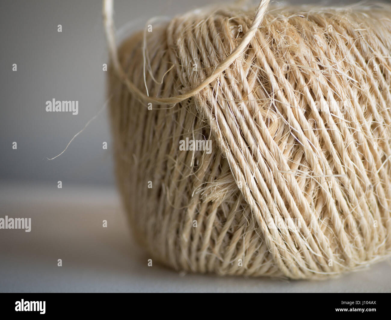 A closeup of jute twine - Stock Image