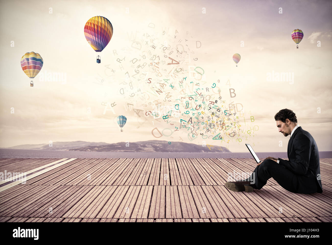 Freedom businessman - Stock Image