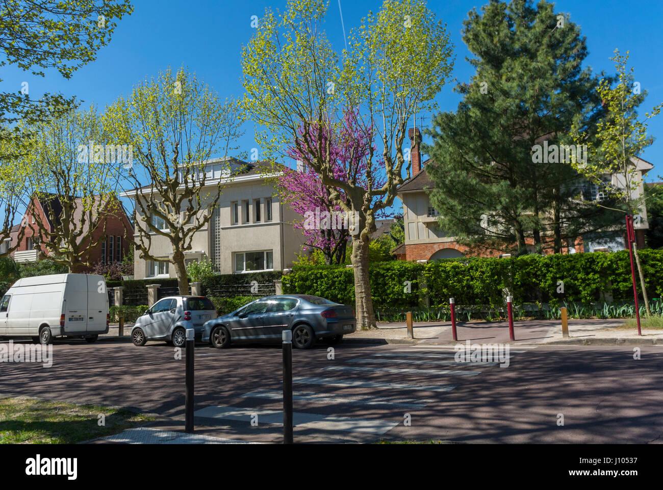 Antony, France, Paris Suburbs, Street Scenes, Single Family Houses, Local neighbourhoods - Stock Image